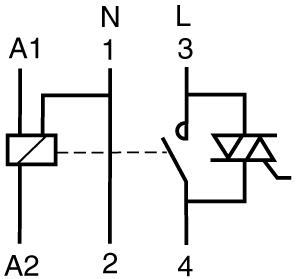 zapojení hybridního stykače